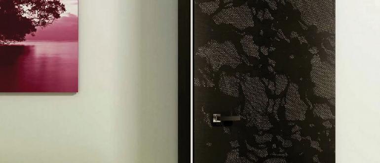 Porte en chêne teinté